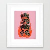 hong kong Framed Art Prints featuring Hong Kong by René Barth