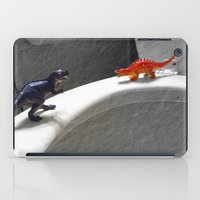 toilet iPad Cases featuring Dinos on a Toilet... by Socially Impaired