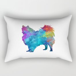 Pomeranian in watercolor Rectangular Pillow