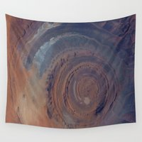 nasa Wall Tapestries featuring eye in the sky, eye in the desert (nasa #01) by _mackinac