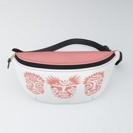 Pink Ritual Faces Fanny Pack