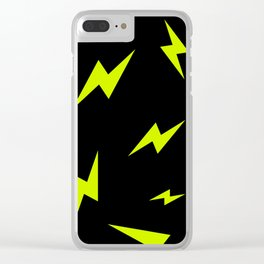 LIGHTNING BOLTS Clear iPhone Case