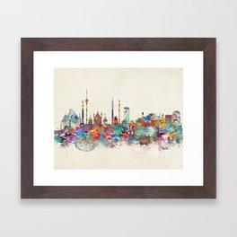 Delhi india skyline Framed Art Print