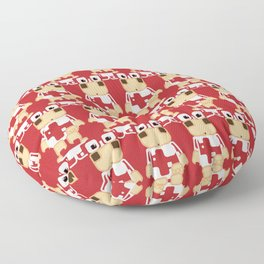 Super cute cartoon cow in red - a moo-st have design for  cow enthusiasts! Floor Pillow