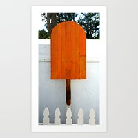 popsicle Art Prints featuring Popsicle  by Photaugraffiti