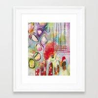 climbing Framed Art Prints featuring Climbing by Belinda Fireman