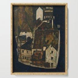 Egon Schiele - Dead City III (City on the Blue River III) (1911) Serving Tray