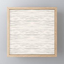 Meteor Stripes - Off White Framed Mini Art Print