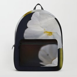 White blooming flower Backpack