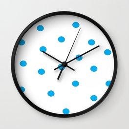 Blue granules  Wall Clock