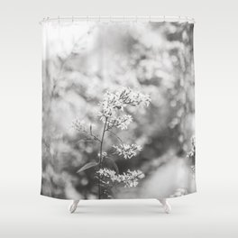 Aster - Flower Photography Shower Curtain