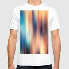 Blur White Mens Fitted Tee MEDIUM