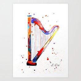 Harp Art Print