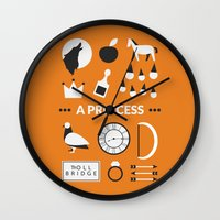 ouat Wall Clocks featuring OUAT - A Princess by Redel Bautista
