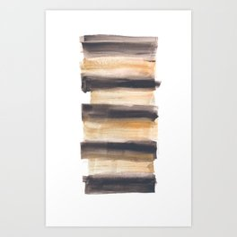 [161216] 13. Drenched|Watercolor Brush Stroke Art Print