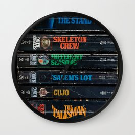 Stephen King Well-Worn Paperbacks Wall Clock
