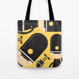 Cute Cartoon Policeman Pattern Tote Bag