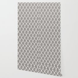 Hand painted black white geometrical diamond polka dots Wallpaper