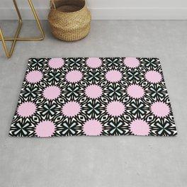 Geometric Pattern - Pink & Light Blue Rug