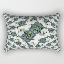 Hydrangeas - White & Blue Floral Rectangular Pillow