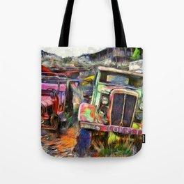 Vintage Jalopy Tote Bag