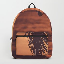 Warm Tropical Summer Sunset (Color) Backpack