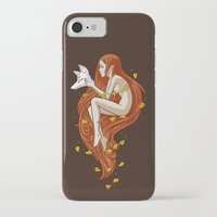 kitsune iPhone & iPod Cases featuring Kitsune by Freeminds