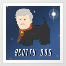 Scotty Dog Art Print