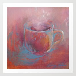Pink Coffee Cup Art Print