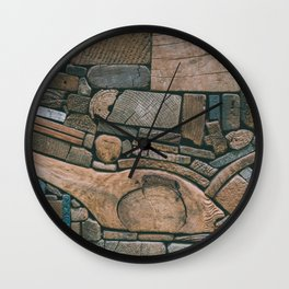 pieces of wood Wall Clock