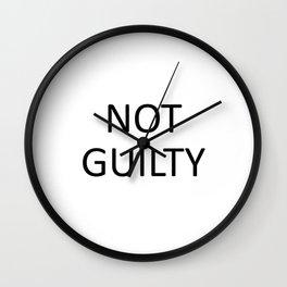 NOT GUILTY Wall Clock