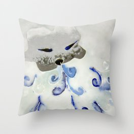 Creature of Air (The North Wind) Throw Pillow