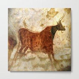 Lascaux Cave Bull I Metal Print