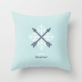 Winter Wanderlust (blue) Throw Pillow