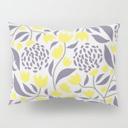 Yellow flowers field Pillow Sham