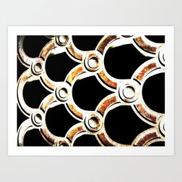 copper rusted cement Art Print