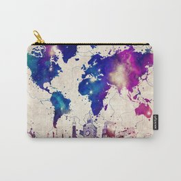 world map city skyline galaxy 2 Carry-All Pouch