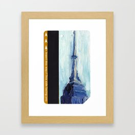 Subway Card Empire State Building No. 1 Framed Art Print