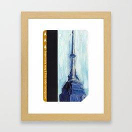Subway Card Empire State Building No. 1 Framed Art Print