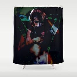 A Male Gaze Shower Curtain