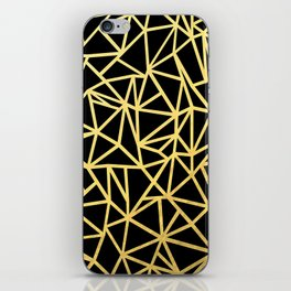 Abstract Outline Thick Gold iPhone Skin