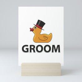 Groom Rubberduck Gift Mini Art Print