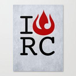 I love RC Canvas Print