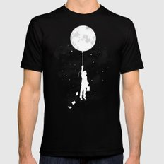 Midnight Traveler Black Mens Fitted Tee LARGE