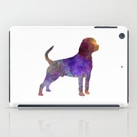 rottweiler iPad Cases featuring Rottweiler in watercolor by Paulrommer