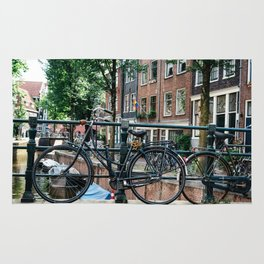 Bicycles in Amsterdam Rug