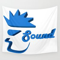 sound Wall Tapestries featuring Sound by Zeep Design