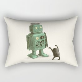 Robot vs Alien Rectangular Pillow