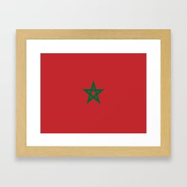 Flag of marocco Framed Art Print