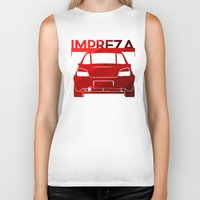 subaru Biker Tanks featuring Subaru Impreza - classic red - by Vehicle